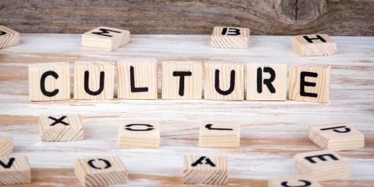 The word culture written our in building blocks